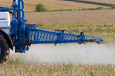 Pesticides being sprayed on crop, Germany  -  Duncan Usher