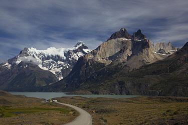Cuernos del Paine above Nordenskjold Lake, Torres del Paine National Park, Chile  -  Matthias Breiter