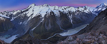 Mount Sefton and Mount Cook, Mount Cook National Park, Canterbury, New Zealand  -  Colin Monteath/ Hedgehog House