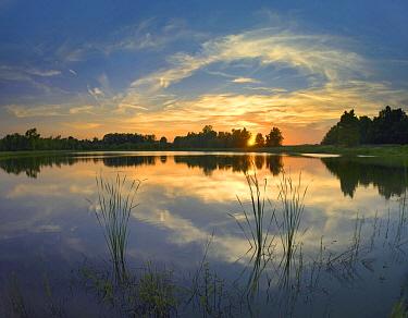 Carlyle Lake at sunset, Illinois  -  Tim Fitzharris