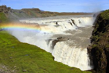 Rainbow over Gullfoss Waterfall on the Hvita River, Iceland  -  Duncan Usher