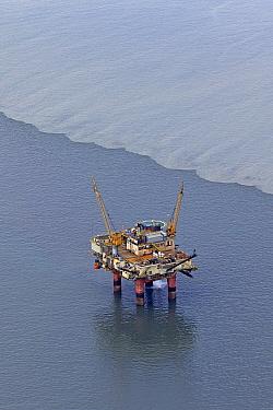 Oil drilling platform, Cook Inlet, Alaska  -  Ingo Arndt