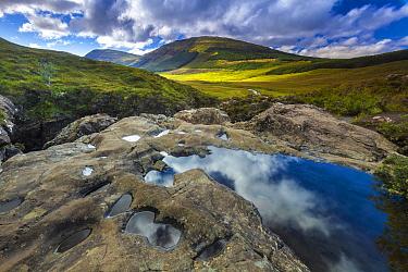 Water pool in rocks, Black Cuillin, Isle of Skye, Scotland  -  Johan van der Wielen/ Buiten-bee