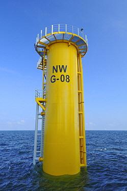 Windmill base in ocean, North Sea, Belgium  -  Karl Van Ginderdeuren/ Buiten-be
