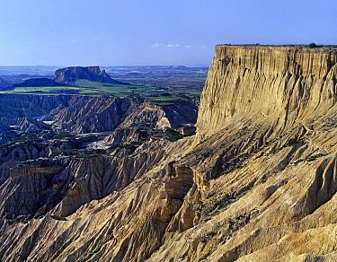 Plateaus at Bardenas Reales Natural Park, semi-desert, UNESCO Biosphere Reserve, Navarra, Spain  -  Albert Lleal