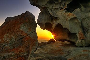 Sunrise on the Remarkable Rocks, Kangaroo Island, Australia  -  Sean Crane