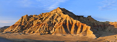 Eroded rock formation, Bardenas Reales Natural Park, Navarra, Spain  -  Albert Lleal