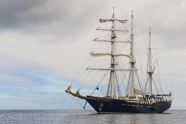 Sailboat used for small cruises, S/V Mary Anne, Galapagos Islands, Ecuador  -  Pete Oxford