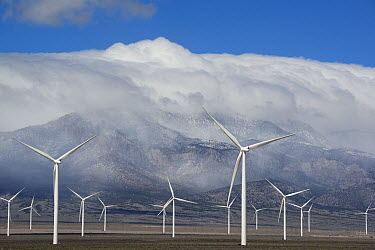Wind turbines, Schell Creek Range, Nevada  -  Kevin Schafer