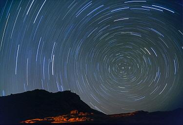 Star tracks at night, Sinai, Egypt