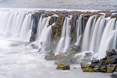 Selfoss Waterfall and river, Jokulsargljufur National Park, Iceland