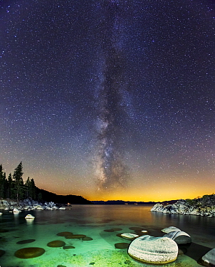 Milky Way over Secret Cove, Incline Village, Lake Tahoe, Nevada