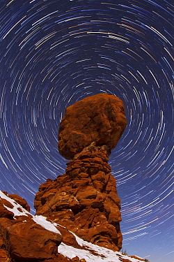Balanced Rock at night, Arches National Park, Utah