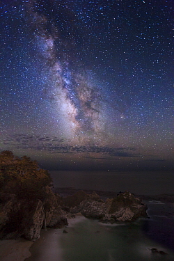 Milky Way over McWay Falls, Julia Pfieffer Burns State Park, Big Sur, California
