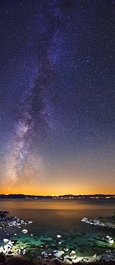 Milky Way over Secret Cove, Lake Tahoe, Incline Village, Nevada