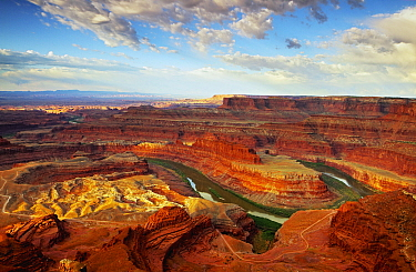 Colorado River flowing through canyon, Dead Horse Point State Park, Utah