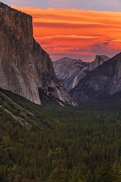 Lenticular cloud at sunset, Yosemite Valley, Yosemite National Park, California