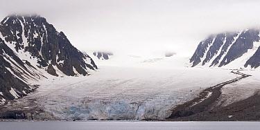 Monaco Glacier and mountains, Svalbard, Norway