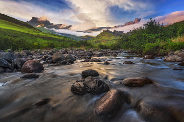 Alpine river, Tugela River, Royal Natal National Park, KwaZulu-Natal, South Africa