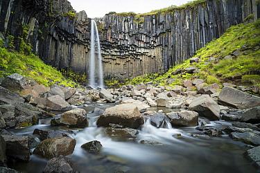 Svartifoss Waterfall, Vatnajokull National Park, Iceland