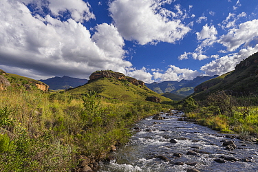 Clouds over river, Bushman's River, Giants Castle Nature Reserve, South Africa