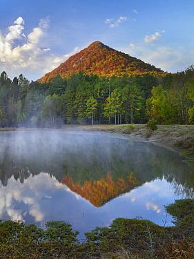 Pinnacle Mountain reflected in Education Pond, Arkansas