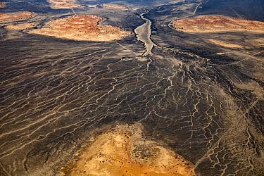 Dried Cooper River basin, northern NSW, Queensland, Australia