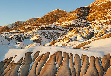 Badlands with sediments from the Cretaceous, Drumheller, Alberta, Canada