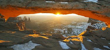 Sunrise through Mesa Arch, Canyonlands National Park, Moab, Utah