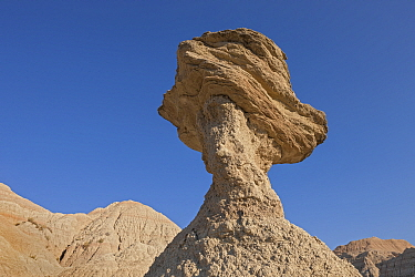 Pedestal rock, Badlands National Park, South Dakota