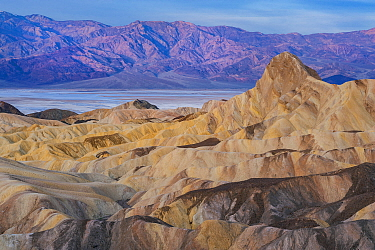 Rock formations, Manly Beacon, Zabriskie Point, Death Valley National Park, California