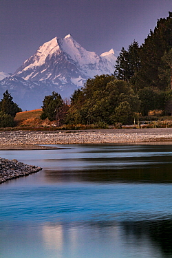 Mount Cook, Lake Pukaki, Mackenzie Country, Canterbury, South Island, New Zealand