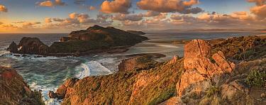 Ernest Islands at sunset, Mason Bay, Rakiura National Park, Stewart Island, New Zealand