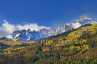 Mountain peaks after first snow, Rocky Mountains, Colorado