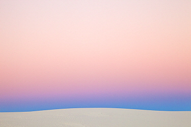Gypsum sand dune at sunset, White Sands National Monument, New Mexico
