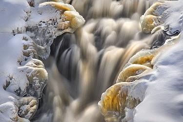 Waterfall at the start of spring, Kawishiwi Falls, Minnesota