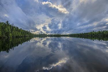 Cloudy sky over lake, Minnesota