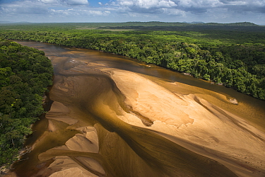 Sandbank in Essequibo River, Rupununi, Guyana