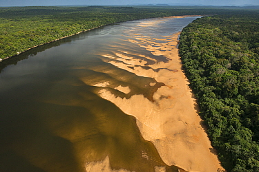 Sandbanks in Essequibo River, Rupununi, Guyana