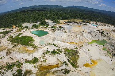 Gold mining in rainforest, Guyana