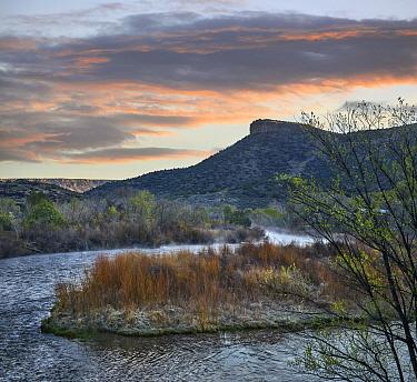 Sunrise at Rio Grande Wild and Scenic River, Rio Grande del Norte National Monumnet,south of Taos, New Mexico