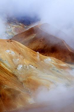 Steaming fumaroles in volcanic area, Kerlingarfjöll, Iceland