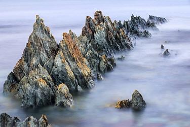 Sedimentary rocks along the coast, Batsfjord, Persfjord, Varanger, Finnmark, Norway