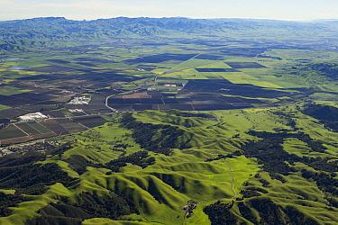 Agricultural fields and suburban developments, Santa Clara Valley, California