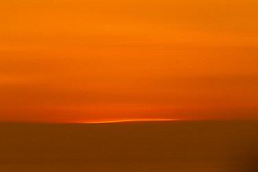 Sunset over ocean, Point Reyes National Seashore, California