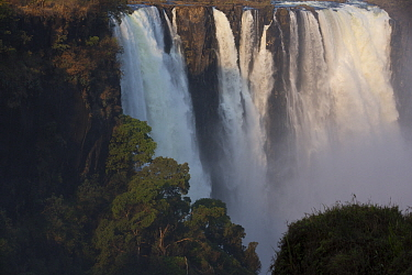 Victoria Falls cascading 420 feet, largest waterfall in the world, UNESCO World Heritage Site, Zimbabwe