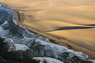 Coastal desert sand dunes, Swakopmund, Namibia