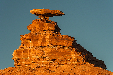 Halgaito shale rock formation called 'Mexican Hat' on the San Juan River in south-central, Utah