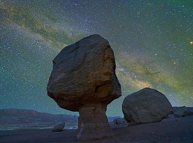 Milky Way and rock formation at Marble Canyon, Vermilion Cliffs National Monument, Arizona