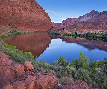 Marble Canyon and Little Colorado River at Lee's Ferry, Vermilion Cliffs National Monument, Arizona